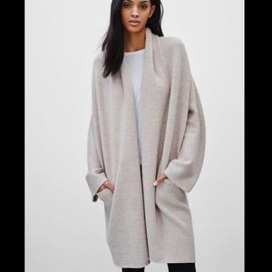 Aritzia Babaton Thackeray long cardigan robe knit